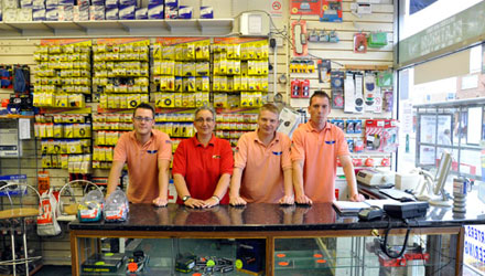 The BMS team at the Blaby shop